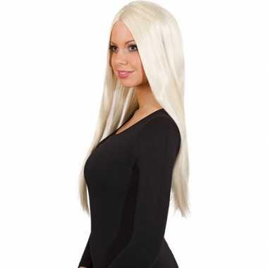 Damespruik met stijl blond haar
