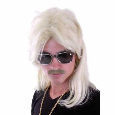 Herenpruik blond met mat