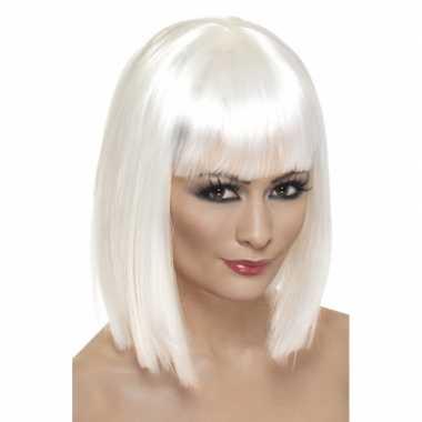 Stijle blonde pruik  volwassenen
