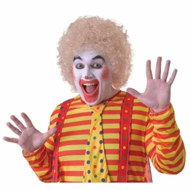 Voordelige blonde clownspruik voor volwassenen